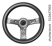 steering wheel icon. gray... | Shutterstock .eps vector #513637003