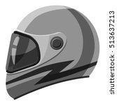 racing helmet icon. gray... | Shutterstock .eps vector #513637213