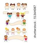 happy kids.   Shutterstock .eps vector #51364087