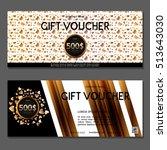 gift voucher. vector ... | Shutterstock .eps vector #513643030