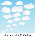 vector background with sky. | Shutterstock .eps vector #51364366