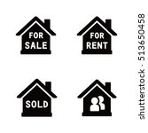 real estate vector icons | Shutterstock .eps vector #513650458