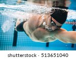 professional male swimmer... | Shutterstock . vector #513651040