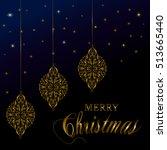 merry christmas vector... | Shutterstock .eps vector #513665440
