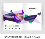 unusual abstract corporate... | Shutterstock . vector #513677128