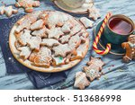 christmas sweets baking... | Shutterstock . vector #513686998