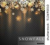gold shining christmas... | Shutterstock .eps vector #513690010
