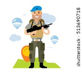 vector airborne troops. flat... | Shutterstock .eps vector #513690718