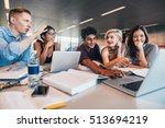 university students using... | Shutterstock . vector #513694219