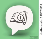 pictograph of book and... | Shutterstock .eps vector #513698014