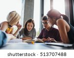 university students in... | Shutterstock . vector #513707488