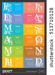 creative calendar for the year... | Shutterstock .eps vector #513710128