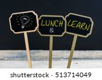 concept message lunch and learn ... | Shutterstock . vector #513714049