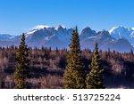 mount foraker in alaska range ... | Shutterstock . vector #513725224