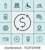 set of transportation icons on... | Shutterstock .eps vector #513725458