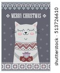 vector template card merry... | Shutterstock .eps vector #513726610