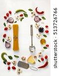 italian pasta  ingredients for... | Shutterstock . vector #513726766