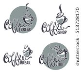 coffee shop  vector collection... | Shutterstock .eps vector #513728170