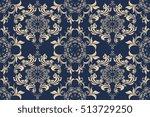seamless ornament on background.... | Shutterstock .eps vector #513729250