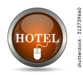 hotel icon. internet button on... | Shutterstock . vector #513739660