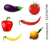 realistic vegetables set with... | Shutterstock .eps vector #513745798