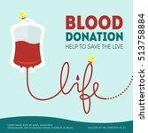 vector blood donation... | Shutterstock .eps vector #513758884
