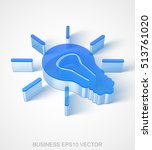 business icon  extruded blue... | Shutterstock .eps vector #513761020