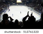 hockey fans applause on the... | Shutterstock . vector #513761320