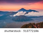 bromo volcano at indonesia | Shutterstock . vector #513772186