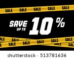 big sale banner with yellow... | Shutterstock .eps vector #513781636
