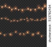 set of overlapping  glowing... | Shutterstock . vector #513782434