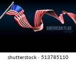 an american flag ribbon... | Shutterstock .eps vector #513785110