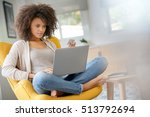 beautiful mixed race woman... | Shutterstock . vector #513792694