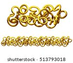 golden  ornamental segment ... | Shutterstock . vector #513793018