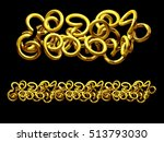 golden  ornamental segment ... | Shutterstock . vector #513793030