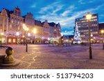 christmas tree on market square ... | Shutterstock . vector #513794203