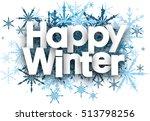 Happy Winter White Background...