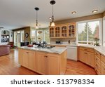 maple cabinets and large... | Shutterstock . vector #513798334