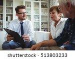 senior couple planning their... | Shutterstock . vector #513803233
