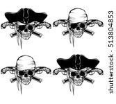 vector illustration pirate... | Shutterstock .eps vector #513804853