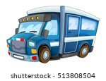 cartoon police car   truck  ... | Shutterstock . vector #513808504