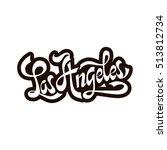 city los angeles  california.... | Shutterstock .eps vector #513812734