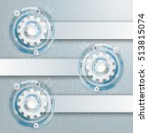 futuristic gear wheels with... | Shutterstock .eps vector #513815074