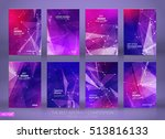 abstract composition. purple a4 ... | Shutterstock .eps vector #513816133
