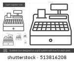 cash register vector line icon... | Shutterstock .eps vector #513816208