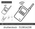 portable radio set vector line... | Shutterstock .eps vector #513816238
