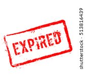 expired red rubber stamp... | Shutterstock .eps vector #513816439