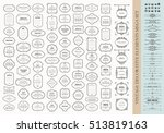 vintage design elements mega... | Shutterstock .eps vector #513819163