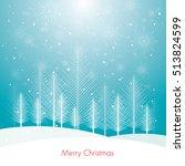 christmas card tree illustration | Shutterstock .eps vector #513824599