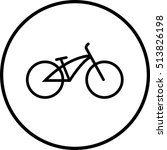 bicycle icon on white background | Shutterstock .eps vector #513826198